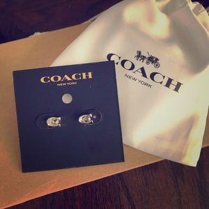 Coach Stud Earrings NEW